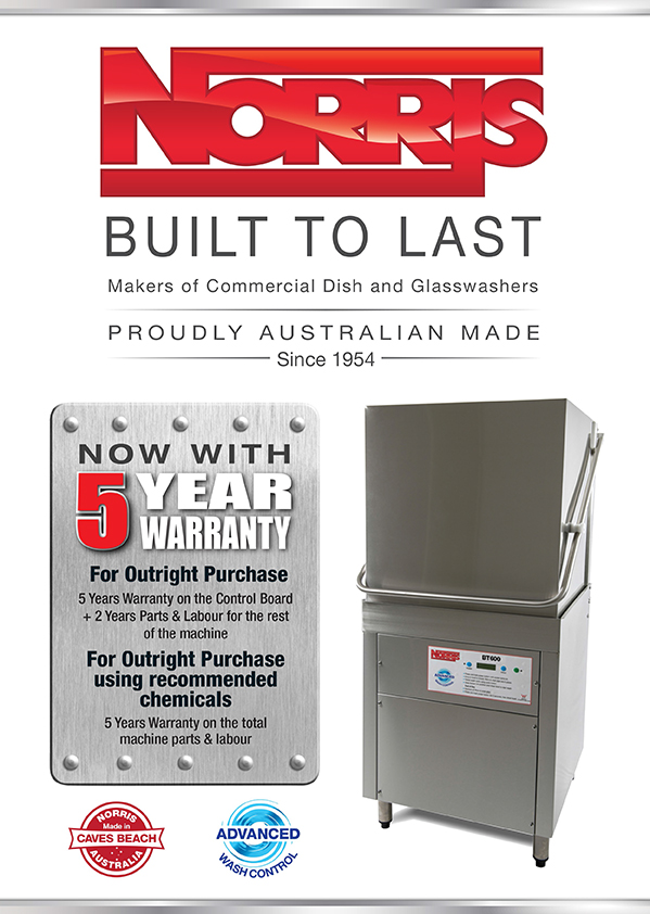 Ace Catering Equipment Warewashing Equipment Norris 5 Year Warranty for Outright Purchase - Norris Update New Warranty Offer Platinum